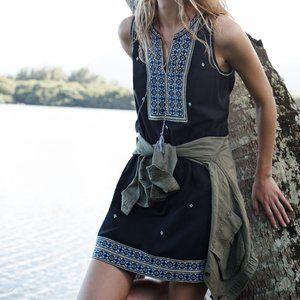 Madewell- Embroidered Tassle Boho Intricate Dress